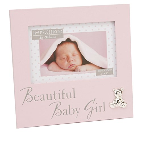 Oaktree Gifts Gorgeous Baby Girl Photo Frame in Pink 6 x 4