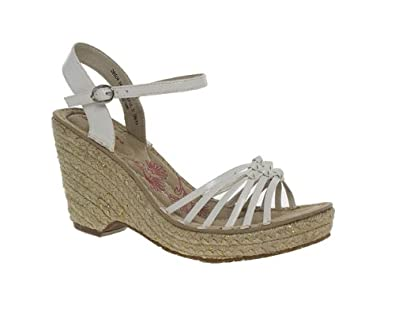 917dd3ddaea Hush Puppies Womens Ladies White High Heel Espadrille Wedge Sandals Size 5   Amazon.co.uk  Shoes   Bags