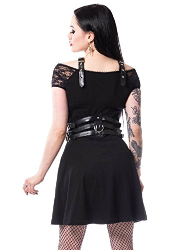 Laura Clothing Dress Schwarz Heartless Kleid WUFPSHE6