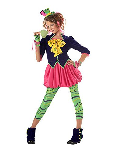 California Costumes Girls Tween Mad Hatter Costume, Multi, X-Large ()
