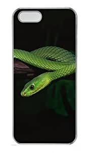 2013 Green Snake Desktop Polycarbonate Plastic Hard Case for iPhone 5S and iPhone 5 Transparent