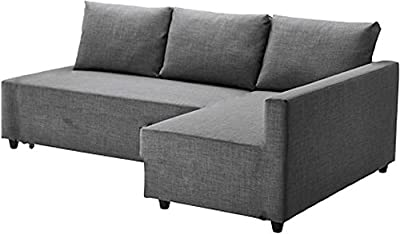 The Dark Gray Friheten Thick Cotton Sofa Cover Replacement is Custom Made for Ikea Friheten Sofa Bed, Or Corner, Or Sectional Slipcover. Sofa Cover Only!
