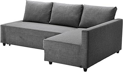 Bed Arm Sofa (The Light Gray Friheten Thick Cotton Sofa Cover Replacement is Custom Made for IKEA Friheten Sofa Bed, Or Corner, Or Sectional Slipcover. Sofa Cover Only! (Light Gray Longer Left Arm))