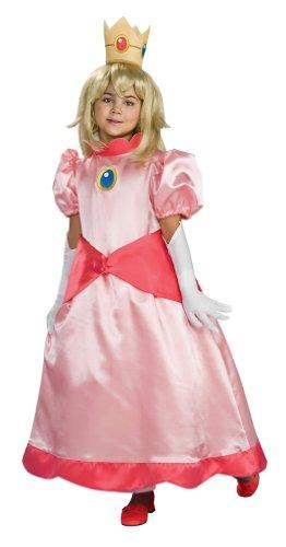 Male Princess Peach Costumes (Super Mario Brothers Child's Deluxe Costume, Princess Peach Costume- Large)