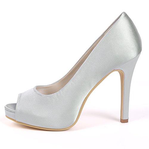 Pie Tacones Mujeres De Punta Altos 6041 L Zapatos Las Satinada 02a Stiletto Chunky Plataforma yc Boda Del Toe Purple Peep S8xFEXqTn