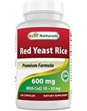 [US Deal] Save on Best Naturals Red Yeast Rice with CoQ10, 120 Capsules - Cardiovascular formula contains 600 mg of Red Yeast Rice ans 30 mg of CoQ10. Discount applied in price displayed.