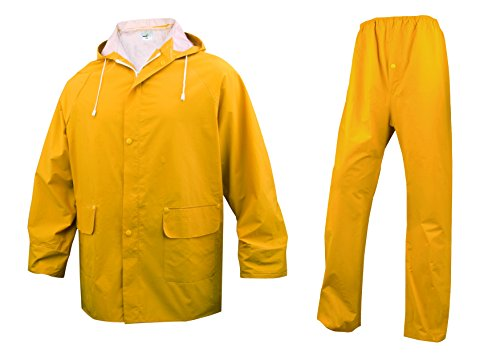 Deltaplus Herren Regenjacke Gelb Gelb