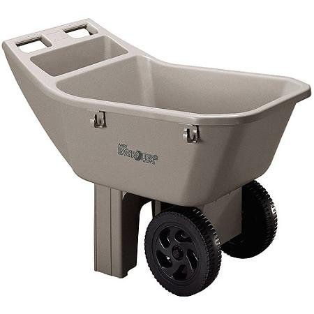 Ames 2463675 3 Cubic Feet Easy Roller Jr. Lawn Cart/Tan (tan) ()