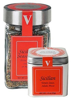 Peppers Sweet Blended (Sicilian Seasoning Blend - 2.5 oz Jar - Victoria Gourmet - Use on pizza, tomato sauce, salads, pasta fagioli - All Natural Ingredients by Victoria Taylor)