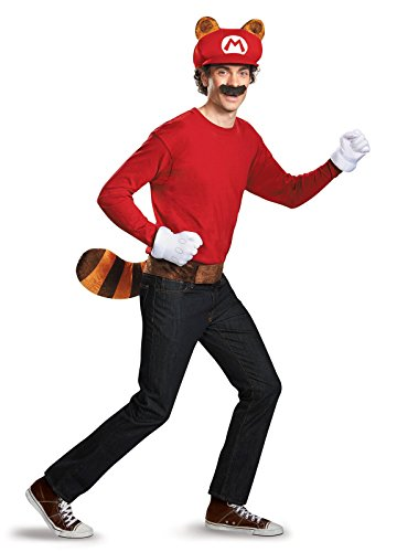 Mario Hats For Sale (Super Mario Bros Nintendo Mario Raccoon Instant Costume Kit Adult)