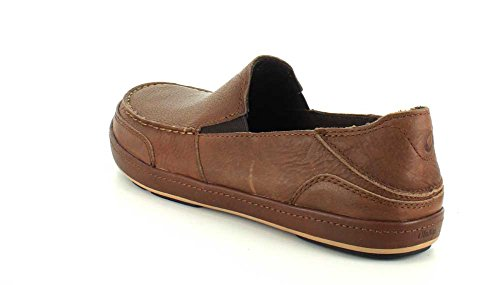 OluKai Mens Puhalu Leather Loafer Toffee/Toffee