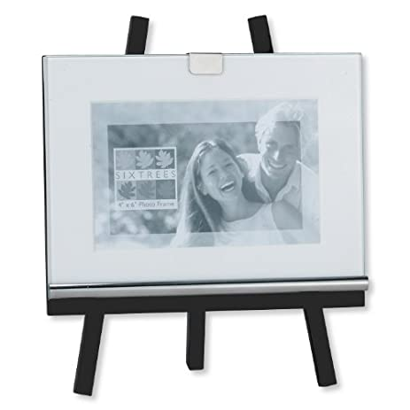 sixtrees easel frame 4 by 6 inch black - Easel For Picture Frame