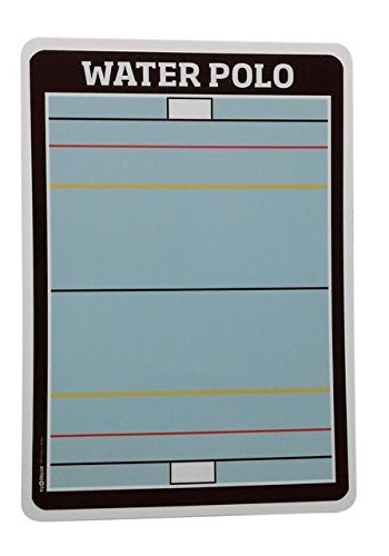 Acrilsports Dry Erase double Sided Coaching Board (A4 (8.267x11.692 inches), Water Polo)