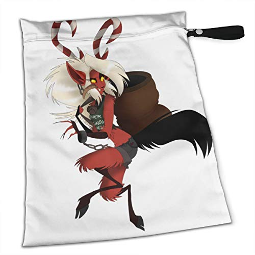 (Pumnims Krampus Christmas Fox Sexy Women for Swimsuit and Towels Waterproof Kids Baby Boy Clothes Diaper Hanging Reusable Menstrual Sanitary Cloth Pads Handle Wristlet Portable Wet-Dry)
