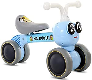 WSJMJ Baby Balance Bike, Children Bicycle, Toddler Bikes for 1-3 Years Old, Carbon Steel Frame No Pedal Walk Training Bike Kids Balance Bikes, for Kids and Toddlers Bike Birthday Gift,Blue
