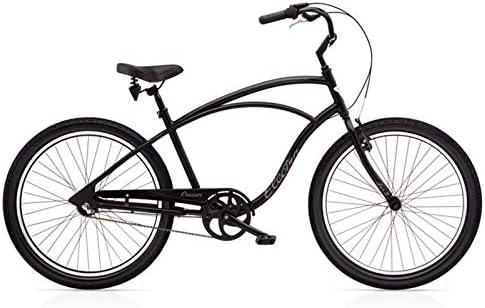 ELECTRA Cruiser Lux 3i Hombre Bicicleta Negro Mate 26 Pulgadas ...