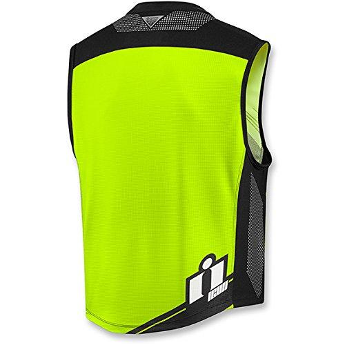 All Sizes New ICON Mil-Spec 2 Reflective Hi-Viz Motorcycle Vest