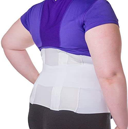 BraceAbility Plus Size 6XL Bariatric Back Brace   Obese Support Girdle for Lower Lumbar Back Pain in Big & Tall, Extra Large, Heavy or Overweight Men and Women (Fits 74