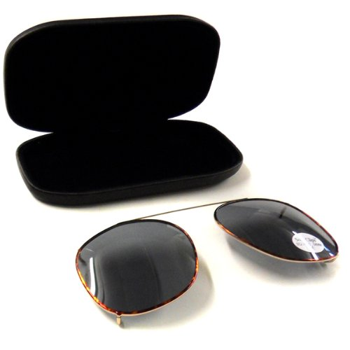 Clip On Sunglasses - 58Mm, Grey, Square Frames -Affordable Gift for your Loved One! Item #IA4L-SGC-164450000