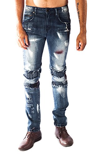 ''Nightmare'' Barabas Blue Men's Jeans 36 by Barabas
