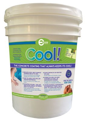(Cool Decking Pool Deck Paint - Coating for Concrete and Decks - Waterproof Concrete Paint that Repairs, Seals, and Cools Your Pool Deck Surfaces - Covers 150 Square Feet of)