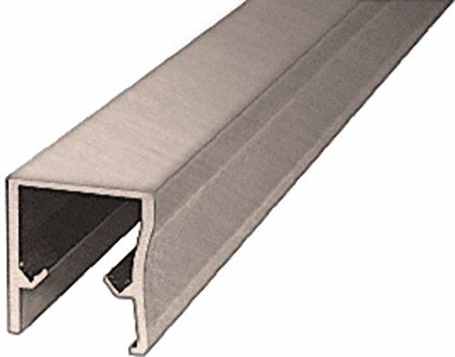 CRL Brushed Nickel Frameless Sliding Shower Door Header Extrusion for 3/8