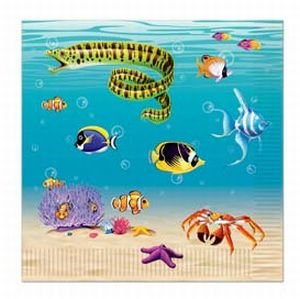 Under the Sea Luncheon Napkins B00OXSM5FI