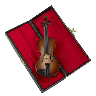 "Kurt Adler 5.5"" Wood Violin Ornament"