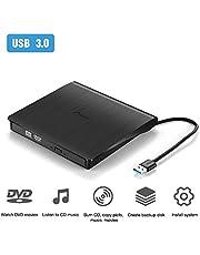 Unità DVD Esterna, MAD GIGA Masterizzatore Esterno Usb 3.0 con Cavo,Lettore DVD, Perfetto Per Tutti I PC Laptop / Desktop/Mac Os/Win7/Win8/Win10/Vista.