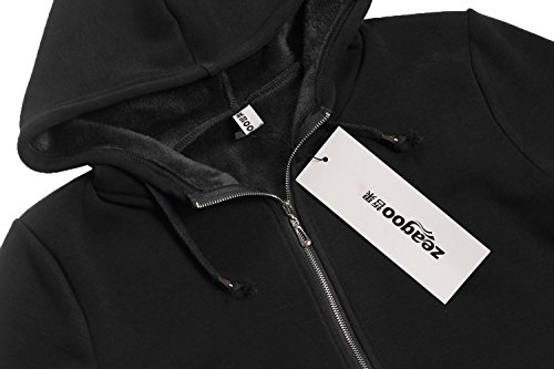 027fb6e8d5300 Zeagoo Women Casual Zip up Fleece Hoodies Tunic Sweatshirt Long Hoodie  Jacket - Ma-Zone