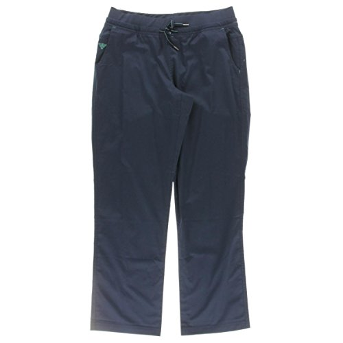 Med Couture Signature Yoga Drawstring Scrub Pant for Women, New Navy/Spearmint, Medium ()