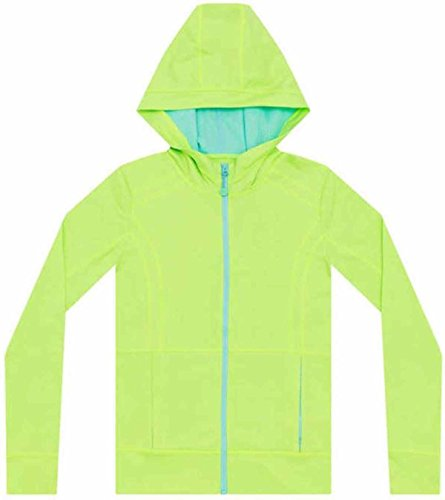 Signature Full Zip Hoody - Kirkland Signature® Active Girls Full Zip Hoodie (X-Large, Neon Green)