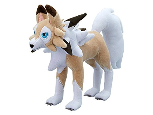 Pokemon Center Original Plush Doll Lycanroc Midday Form / Lycanroc Forme Diurnal (Pokemon Sun Moon)