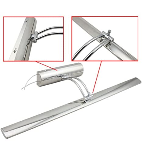 HENGDA LED Spiegelleuchte Schminklicht Spiegellampe Schrankleuchte Wandlampe mit Schalter f/ür M/öbel Spiegel und Bad 180/° einstellbar Edelstahl 11W Warmwei/ß