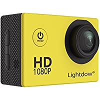 Lightdow LD4000 1080P HD Sports Action Camera Bundle with DSP:NT96650 Chip, 1.5-Inch LPS-TFT LCD, 170° Wide Angle Lens and Bonus Battery (Yellow)