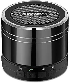 EasyAcc Altavoz Bluetooth Portátil Recargable con Micrófono FM Ranura para Tarjeta Micro SD para MP3 Smartphones Tablets iPad PC Negro