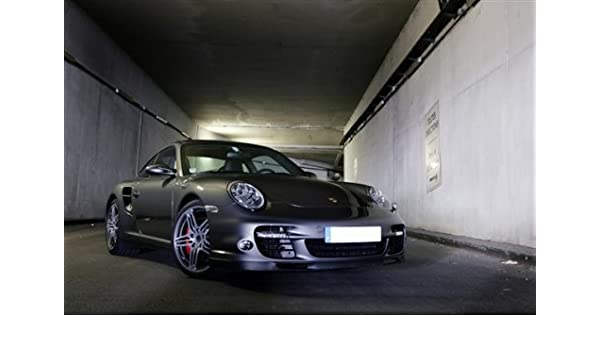Amazon.com: Porsche 911 997 Turbo Silver Right Front HD Poster Super Car Jumbo 48 X 32 Inch Print: Posters & Prints
