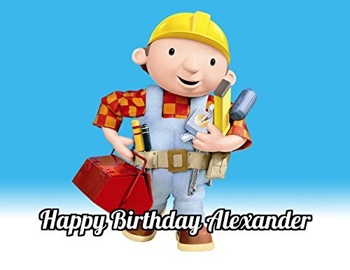 Bob The Builder Edible Image Photo Cake Topper Sheet Personalized Custom Customized Birthday Party - 1/4 Sheet - 78738 Bob The Builder Cake Decorations