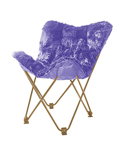 - USA Top Folding Premium Butterfly Luxurious Mongolian Chair Stylish Cozy Comfort, Purple