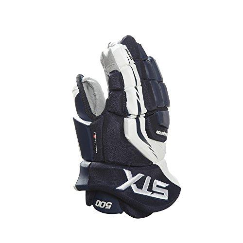 Line Hockey Gloves In (STX Surgeon 500 Junior Ice Hockey Gloves, Navy/White, 12