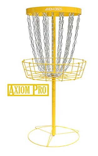 Axiom Discs Pro 24-Chain Disc Golf Basket - Yellow by Axiom Discs