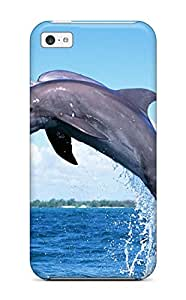 4119280K85524717 durable Protection Case Cover For Iphone 5c(dolphins)