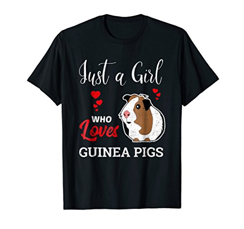 Just a Girl Who Loves Guinea Pigs - Funny Animal T-Shirt