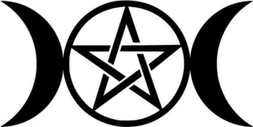 Amazon Triple Moon Pentacle Pagan Satanic Symbol Car Truck
