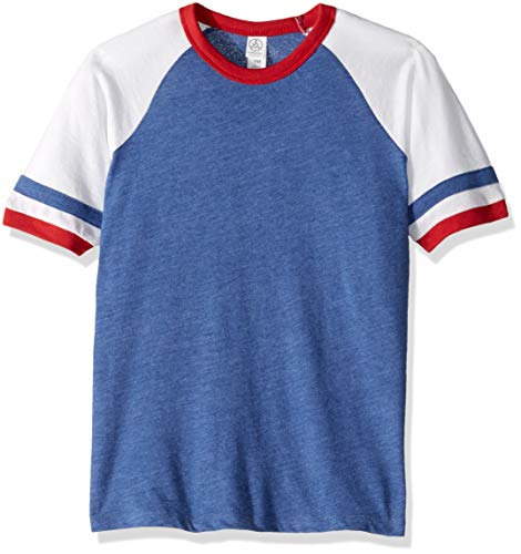 Shot Youth T-shirt (Alternative Kids' Big Youth Slapshot Tee, VntRoyal/white/red, Youth Large)