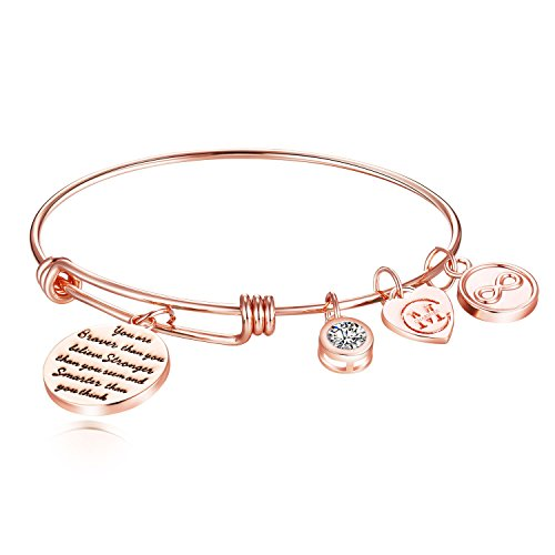 Inspirational Charm Bangle Bracelet Engraved
