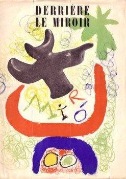 DERRIERE LE MIROIR (DLM) NO. 29-30 MAI 1950: JOAN MIRO -  WITH AN ORIGINAL LITHOGRAPH