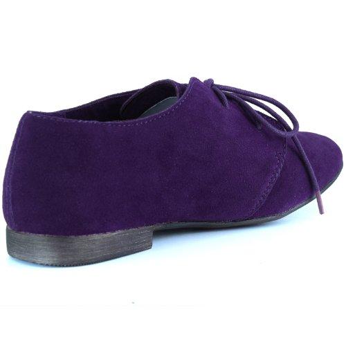 Damesschoenen Van Klassiek Klassiek Plateau Van Ballet, Oxford Sneaker Schoenen Paars
