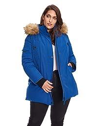 Alpine North Womens Plus-Size Womens Vegan Down Parka Winter Jacket Plus