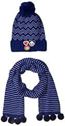 S.W.A.K Kids Girls Knit Pompom Beanie Ha...